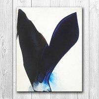HDARTISAN אמנות בד תקציר ריקוד צבע ציור מודרני קיר תמונות לסלון בית תפאורה מודפסת 90-(5) ללא מסגרת