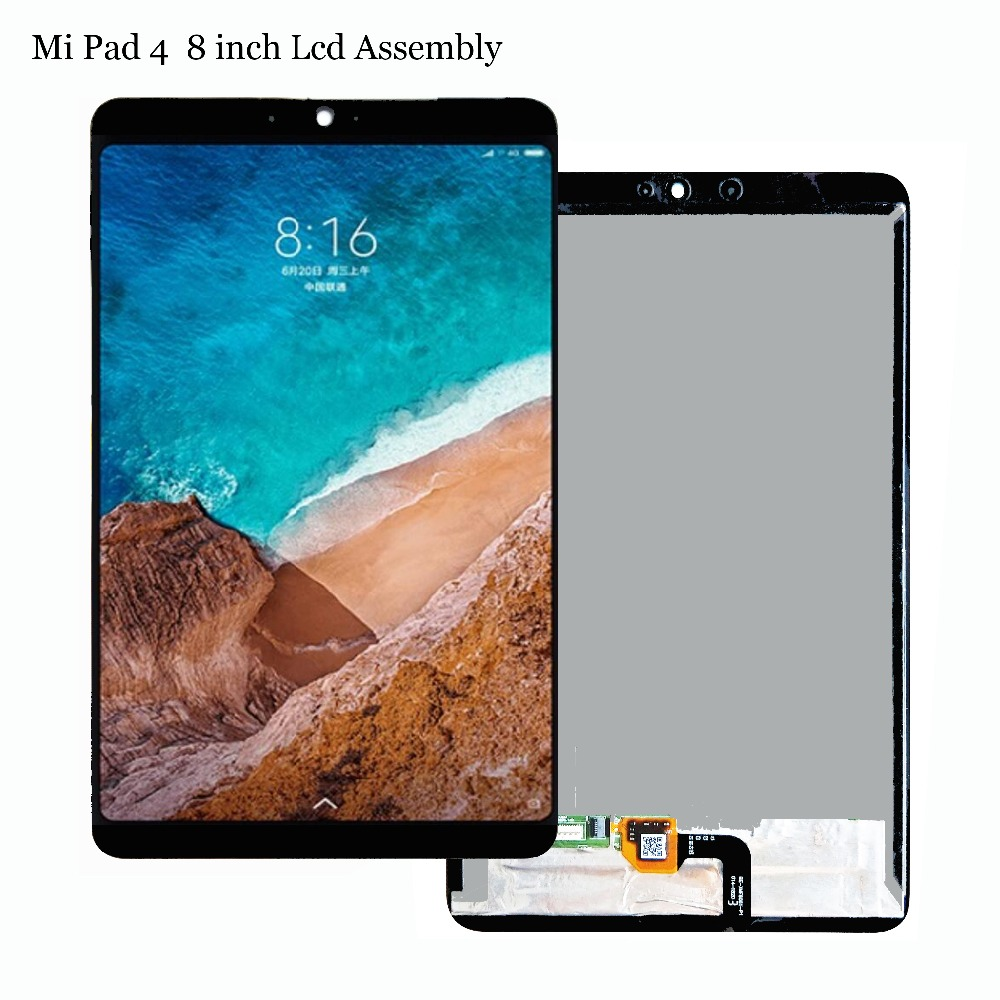 New 8 inch For Xiaomi Mi Pad 4 Mipad 4 MIUI LCD Display + Touch Screen Digitizer Glass Full Assembly Tablet PC Replacement 10pcs lot 100% aaa quality replacement for iphone 6 lcd 4 7 inch display with original glass touch screen digitizer assembly