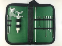 Animal reusable oral gavage Feeding Kit utility pouch,crop needles(straight), TPX syringe, silicone tube
