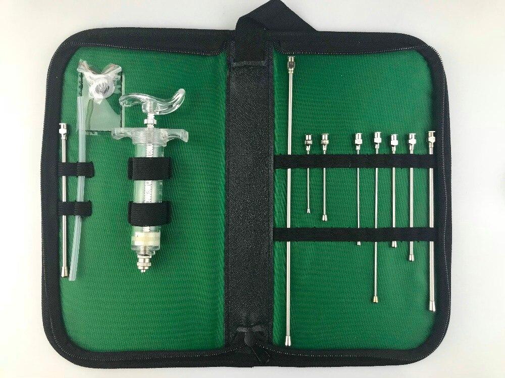 Kit d'alimentation par gavage oral réutilisable pour animaux-pochette utilitaire, aiguilles de culture (droites), seringue TPX, tube en silicone