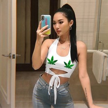 2019 Womens Sexy Casual Slim Sleeveless Tank Tops Vest Halter Bow Tie Crop Top For Ladies Fitness Vest Women Clothing Tops недорого