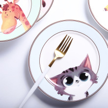 Cartoon Animal Ceramic Dish Creative Western Food Plate Household Dinner Plate Fruit Plate Cute Children Tableware Ceramic Dish 130 infrared honeycomb ceramic plate regenerative ceramic plate fire resistant porous ceramic plate