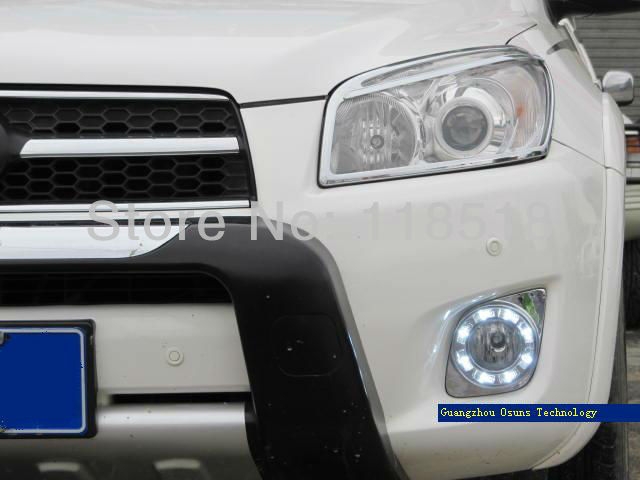 Free shipping ,New arrival , led drl daytime running light fog lamp for CAR-Specific 2011 TOYOTA RAV4 new arrival a pair 10w pure white 5630 3 smd led eagle eye lamp car back up daytime running fog light bulb 120lumen 18mm dc12v