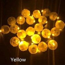 Многоцветная круглая Светодиодная Вспышка шар 10 шт. лампа шар свет долгое время ожидания для бумажного фонаря шар свет вечеринка Свадьба Decorat