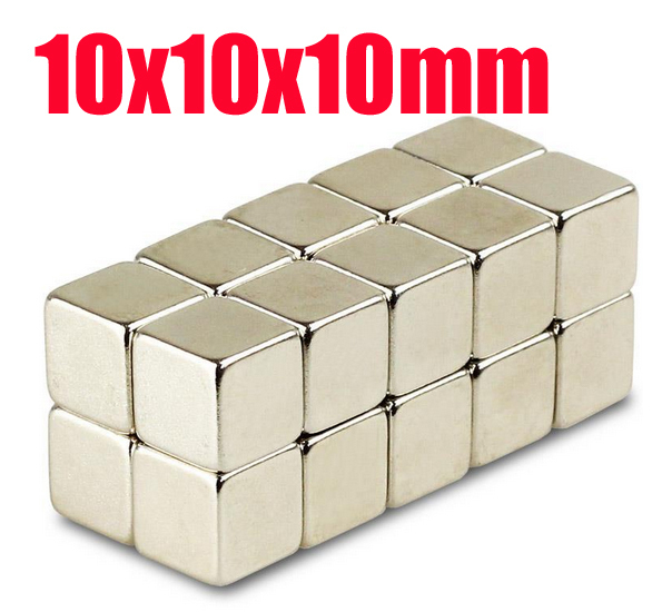 10*10*10 n52 magnet Wholesales 20pcs Strong Block Cube Magnets 10mm x 10mm x 10mm Rare Earth Neodymium magnets 10