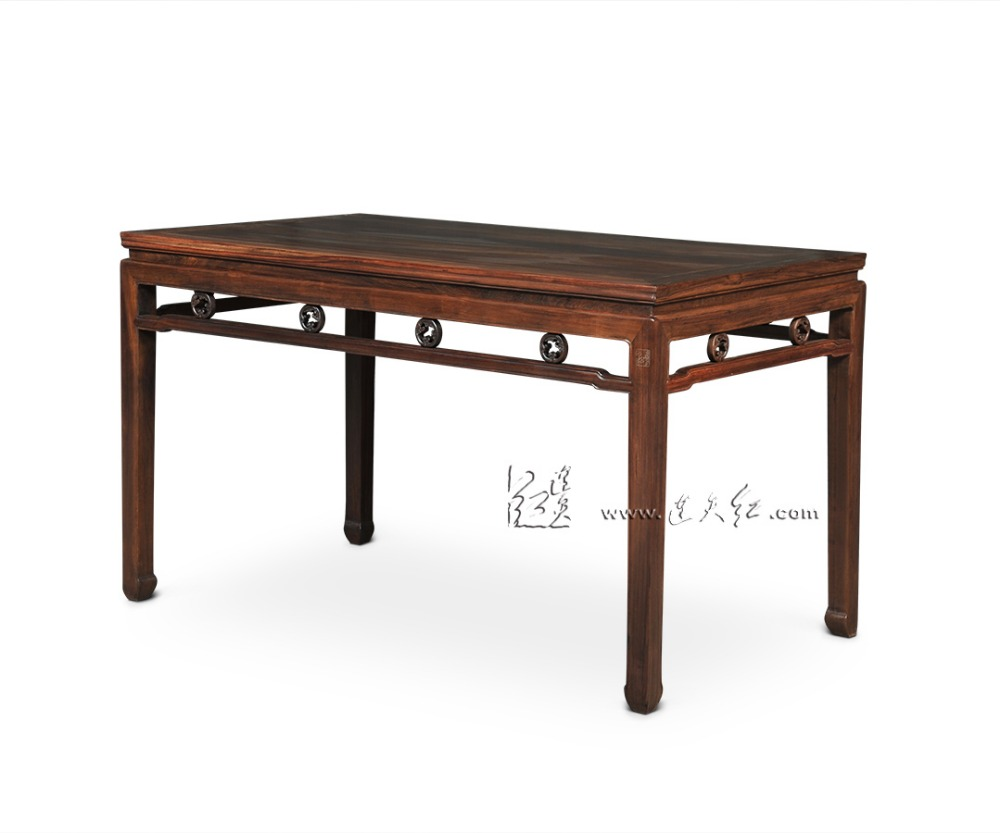 Office Long Rectangle Table Rosewood 6 seats Desk Living Dining Room Furniture 1.3m board China new Classical Fashion Solid Wood classical rosewood armchair backed china retro antique chair with handrails solid wood living dining room furniture factory set