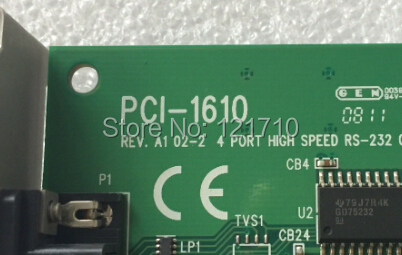 Industrial equipment board PCI-1610 REV.A1 02-2 4 PORT HIGH SPEED RS-232 COMMUNICATION CARD
