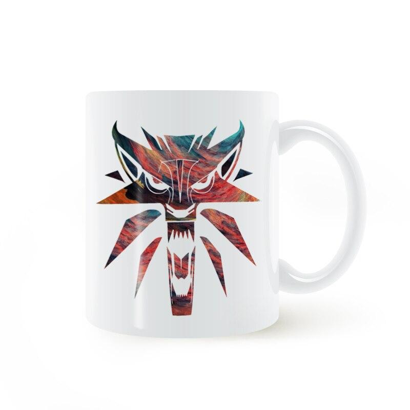 The Witcher Wolf Mug Coffee Milk Ceramic Cup Creative DIY Gifts Home Decor Mugs 11oz T601