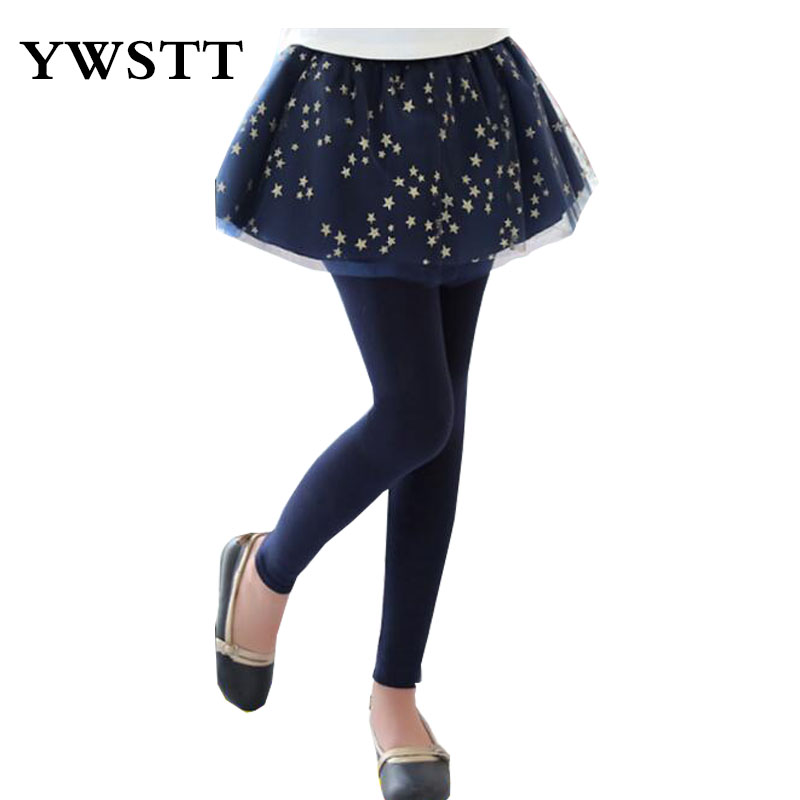 2018 spring autumn girls leggings lace floral printed big kids skirt leggings slim pants children's long trousers for 3T-13T sports style owl printed lace up narrow feet long pants for men