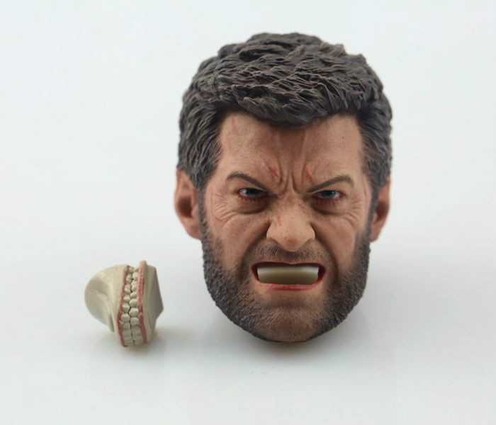 "1//6 Scale Angry Logan Wolverine Head Sculpt Hugh Jackman For 12/"" Figure U.S.A."