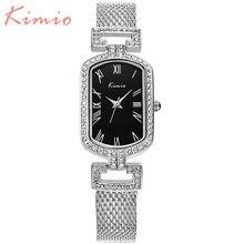 KIMIO Cristalina de Lujo Del Diamante Pulsera de Cuarzo Resistente Al Agua Relojes Para Señora de Las Mujeres de Moda Relojes de Marca Feminino Reloj