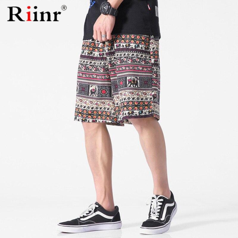Hingebungsvoll Männer Sommer Hawaii Kurze Casual Männer Kurze Folk-custom Style Atmungs Mode Hosen Frühling Elastische Taille Bermuda Kurze