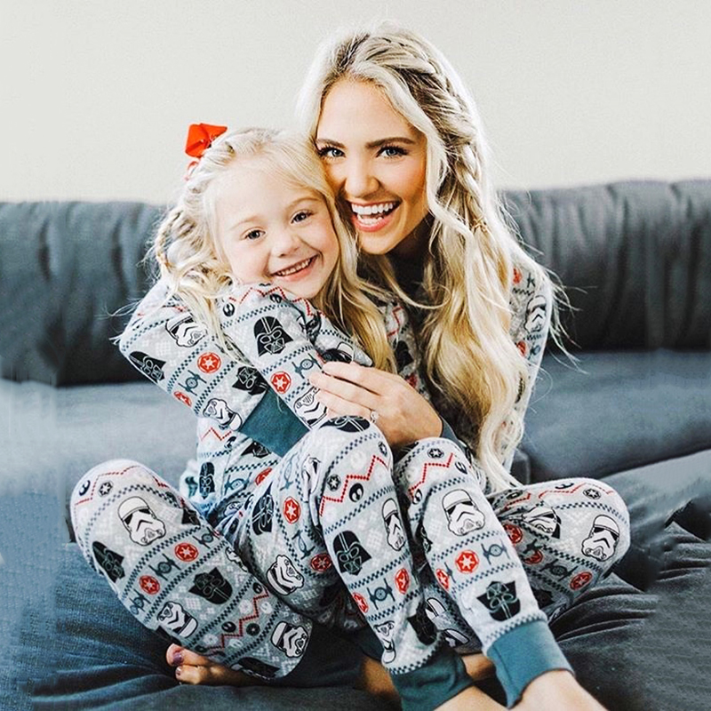 Mother And Daughter Clothes Outfits 2019 New Family Matching Pajamas Set Women Girl Boy Xmas Cotton Party Sleepwear Pyjamas Set