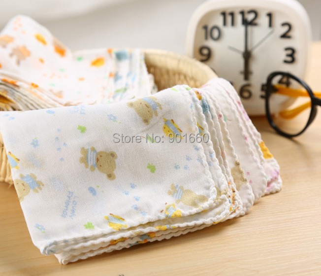 12004f83dee4 30 x 100% Cotton Baby Gauze Muslin Squares Washcloth-in Towels from ...