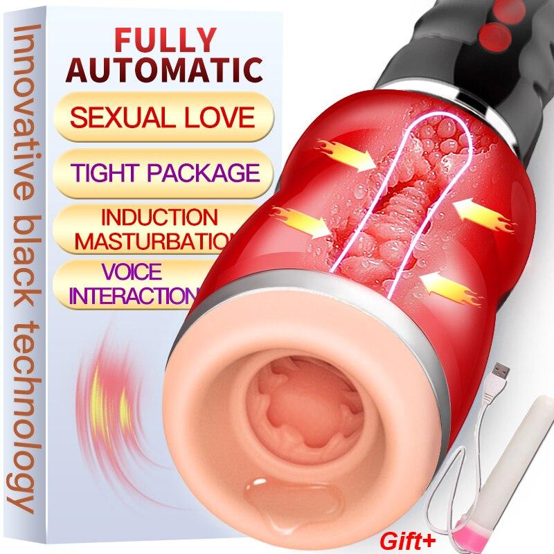 Gorge profonde sucer Vibrateur Érotique sex toys pour hommes Faux pussy Pénis pompe Pipe Mâle Masturbateur pour homme sexe Oral machine