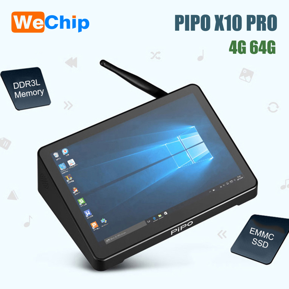 PIPO X10 PRO Mini PC Windows10 Intel Z8350 Quad Core 4G 64G 10.8 Inch IPS Tablet PC 1000Mbps BT4.0 Smart Media Player