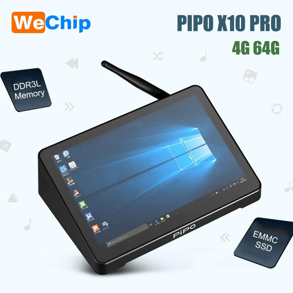 PIPO X10 PRO Mini PC Windows10 Intel Z8350 Quad Core 4G 64G 10.8 Inch IPS Tablet PC 1000Mbps BT4.0 Smart Media Player
