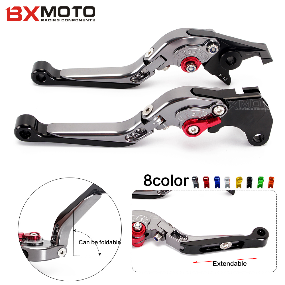 Motorcycle accessories CNC Aluminum Foldable Extendable Clutch Brake Levers sets For Honda VFR800/F 2002~2015 CBF1000 2006~2009 for ducati multistrada 1200 dvt 2015 motorcycle accessories cnc billet aluminum folding extendable brake clutch levers