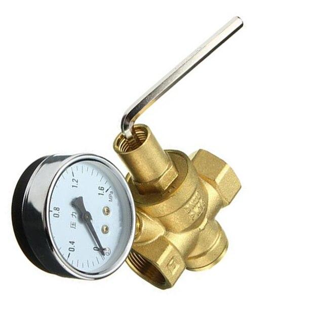 Brass DN20 3/4 Water Pressure Regulator Valves With Pressure Gauge Pressure Maintaining Valve Water Pressure Reducing Valve