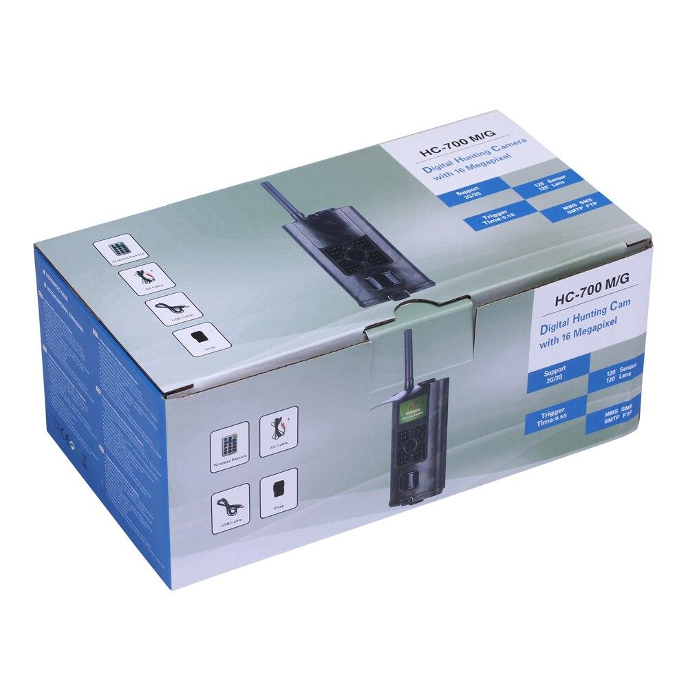 Caméra de chasse cellulaire 2G GSM MMS SMS SMTP caméra de piste Mobile 16MP Vision nocturne sans fil Surveillance de la faune HC700M - 6