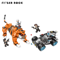 XB10005 City Series Police Stop The Modification Of The Tiger Building Blocks Bricks Technic LegoINGLYs Toy Figure Children Gift
