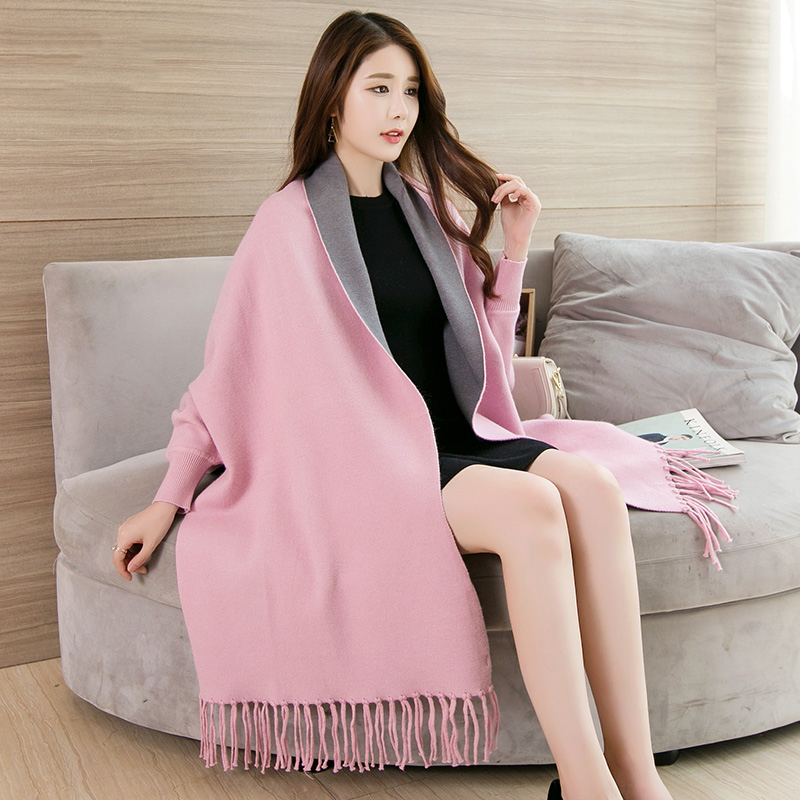 Women Shawl with Sleeves Poncho Thick Winter Shawls and Wraps for Ladies  Pashmina Warm Feminino Winter Ponchos and Capes