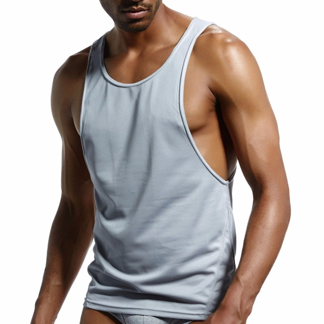 a200df22c men's fashion vest cotton mesh formal tank top home sleep Casual Solid Body  building free loose Casual sleeveless garment