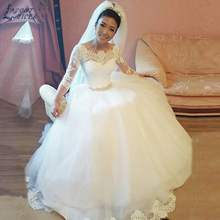 LAYOUT NICEB SHJ505 Three Quarter Sleeve Wedding Dress