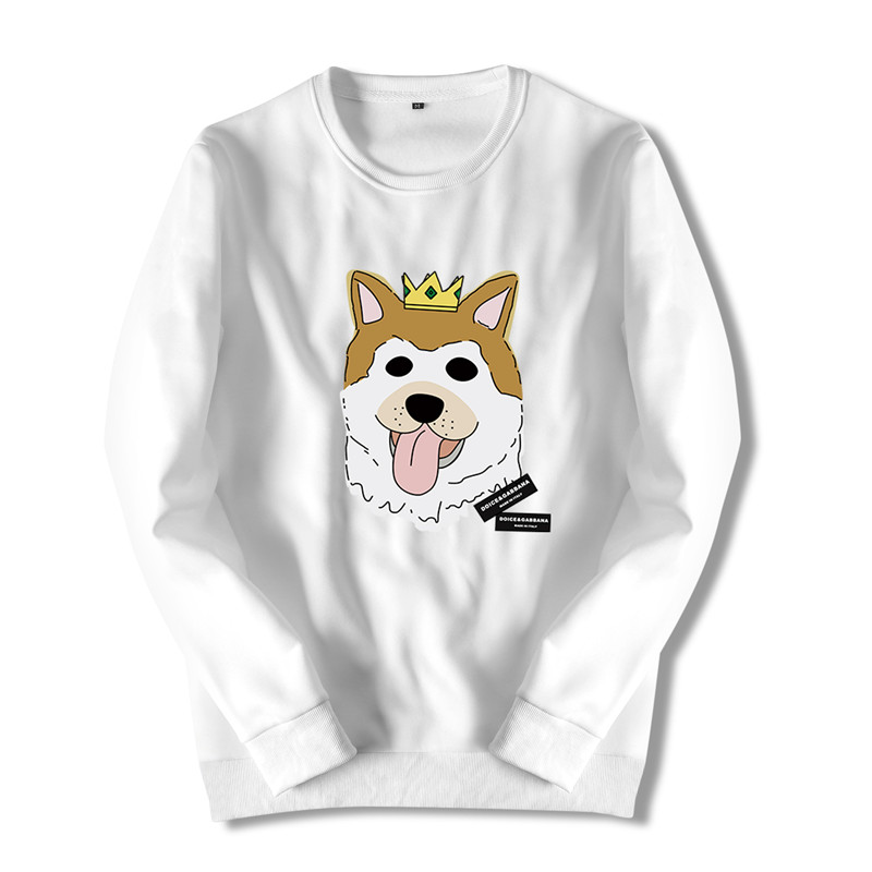 Fashion 2018 Mens Brand Streetwear Hoodie Dog Printed Animal Sweatshirt Cotton Long Sleeve Cute Hoodies for Men Clothing ZZC17