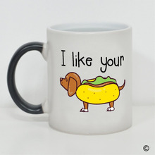 Morphing Mug - I Like Your Weiner Heat Reveal Ceramic Coffee 11 Ounce