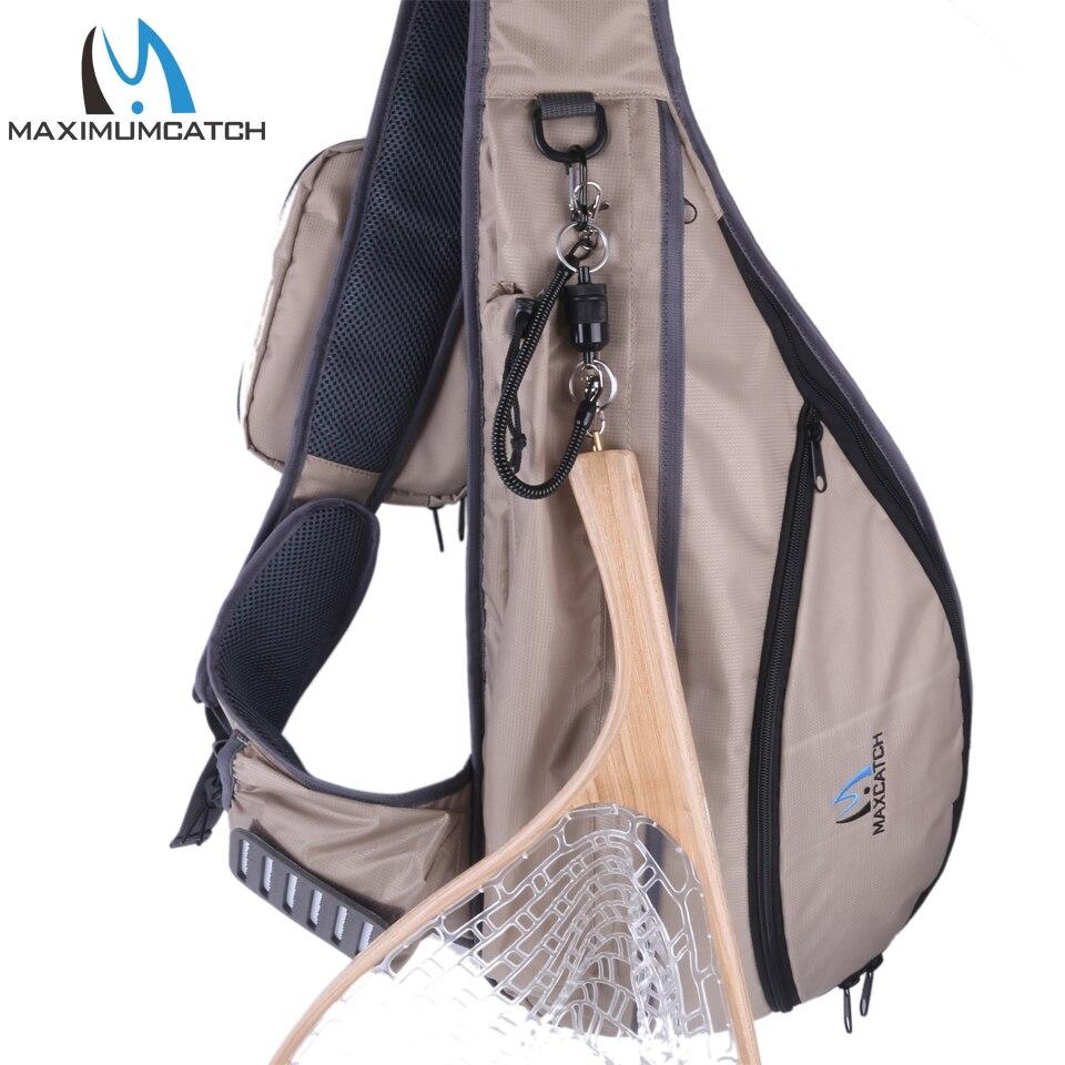 Tenkara Fishing Sling Pack Bag Outdoor Chest Bag Fly Fishing Sling Backpack Fishing Bag string sling pack