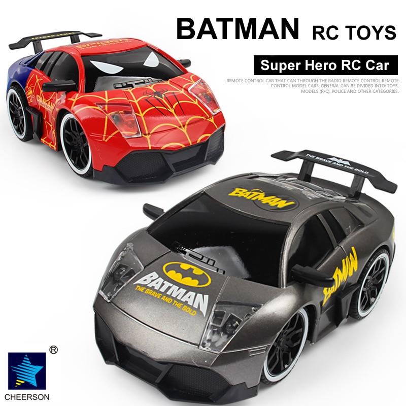 Super Hero Bat Car Toys 4CH Romote Control Car Vehicle Children Kids Eletric RC Toys Gift