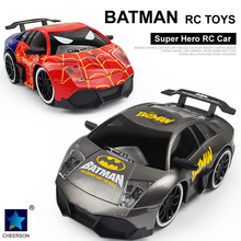 Super Hero Bat Car Toys 4CH Romote Control Car Vehicle Children Kids Eletric RC Toys Gift