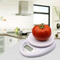 5000g/1g 5kg LED electrónico Balanza de alimentos dieta cocina balanza Digital Postal herramientas de cocina balanza electrónica equilibrio