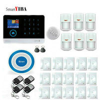 SmartYIBA WIFI GSM GPRS English France Switchable RFID Card Wireless Home Security Arm Disarm Alarm System