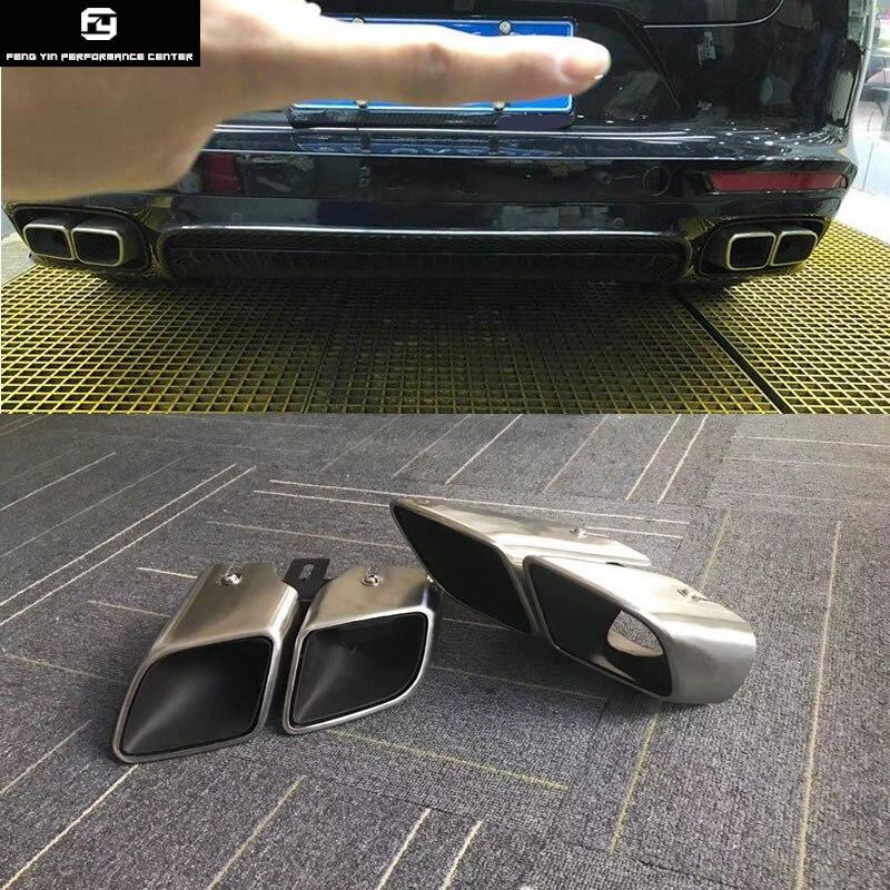 971 глушитель из нержавеющей стали выхлопные трубы концевые наконечники выхлопной трубы для Porsche Panamera 970 4S Turbo GTS 17-18
