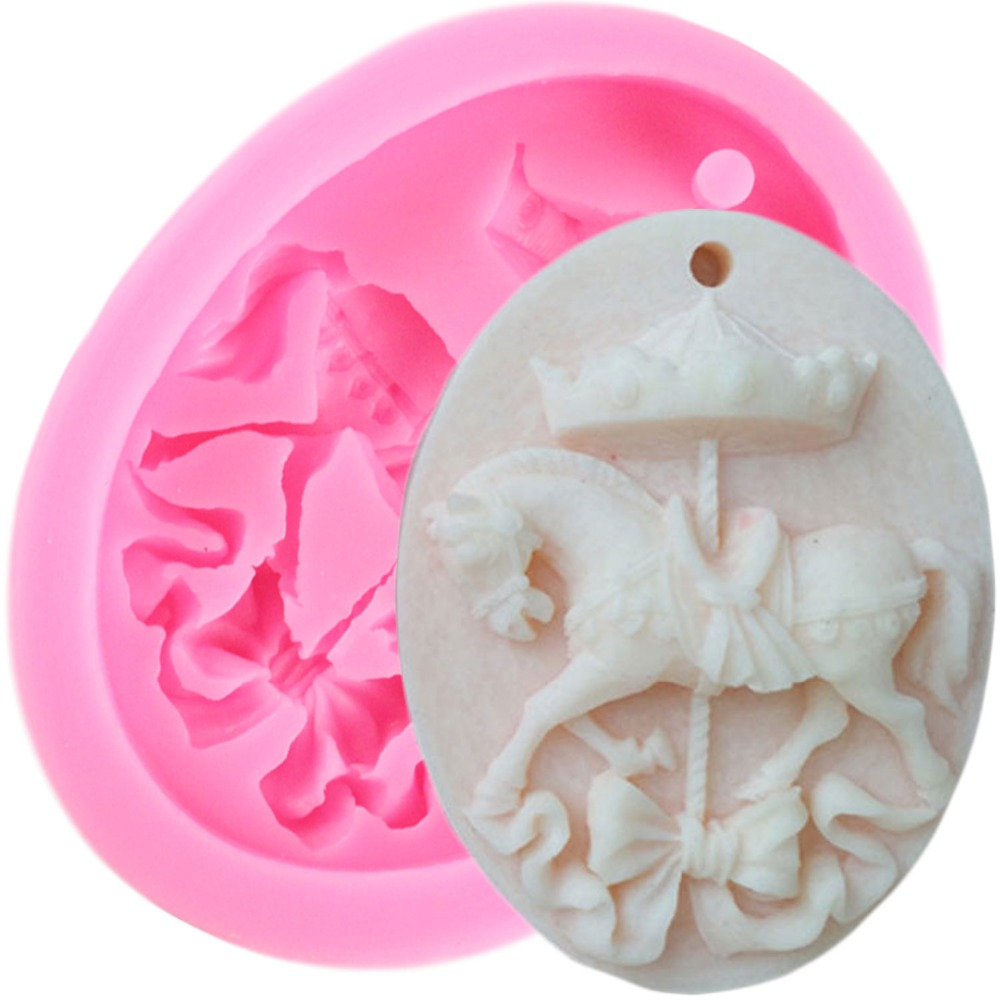 Kitchen,dining & Bar Humorous Engdash 1pc 3d Carousel Cake Baking Mould Silicone Mold Soap Molds Diy Candy Molds Sugar Mold Kitchen Bakeware Tool High Quality Year-End Bargain Sale