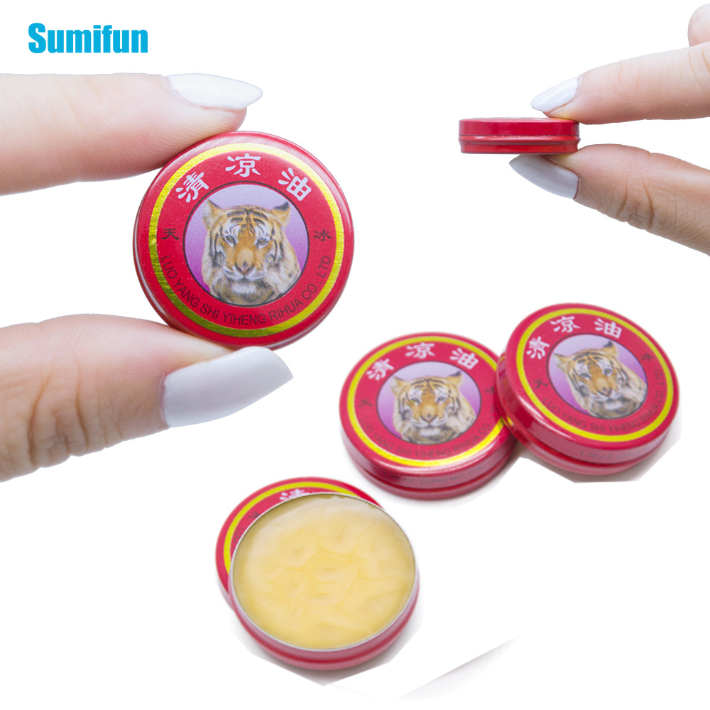 Sumifun 1pcs Massage Red Muscle Rub Aches Cool Cream Chinese Tiger Balm Essential Oil For Adults Pain Relief Ointment P0003