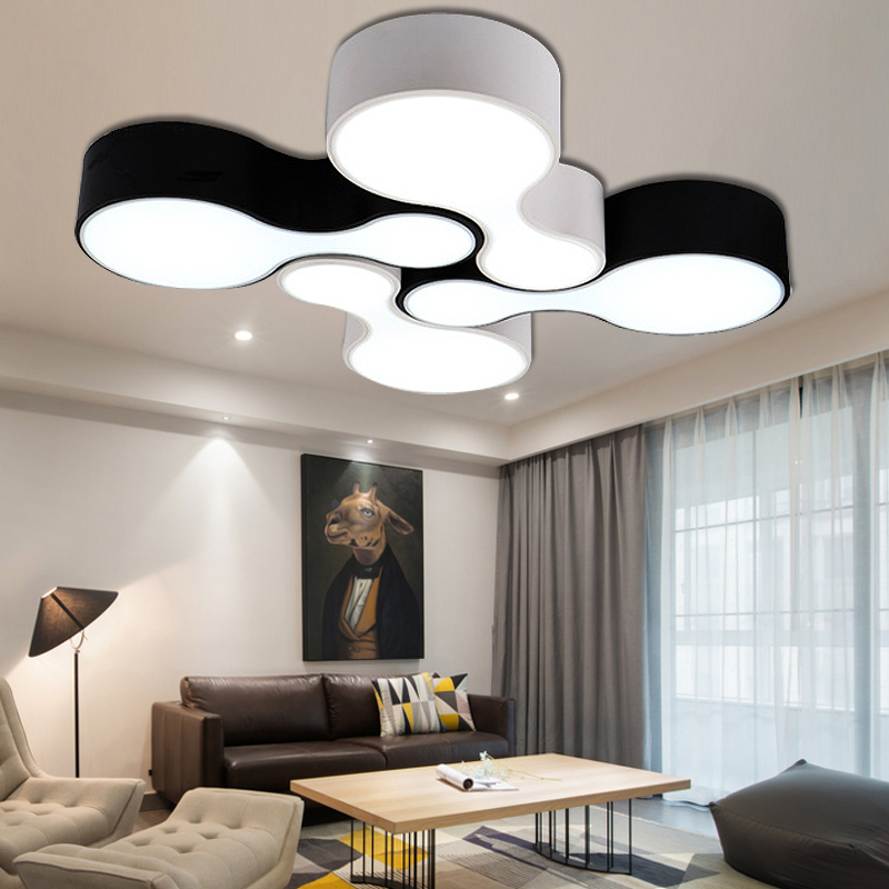 LED Nordic DIY Bowling Acrylic Iron LED Lamp.LED Light.Ceiling Lights.LED Ceiling Light.Ceiling Lamp For Bedroom Foyer-in Ceiling Lights from Lights & Lighting    1