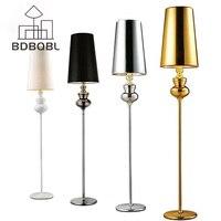 BDBQBL Modern Floor Lamp Retro Bedroom Living Room Standing Lamp Fashion Study Hotel Gold LED Floor Lamp Lighting Fixture