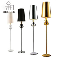 BDBQBL Modern Floor Lamp Retro Bedroom Living Room Standing Lamp Fashion Study Hotel Gold LED Floor Lamp Lighting Fixture