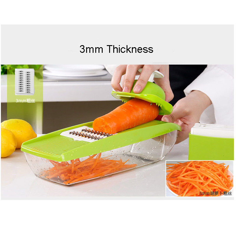 Manual Vegetable Fruit Stainless Steel Blades Slicer Onion Potato