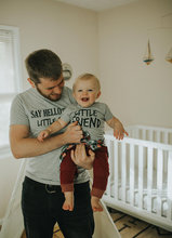 say hello tshirt family clothing little friend kids clothes summer tops family look fashion letter tee father & son christmas say hello