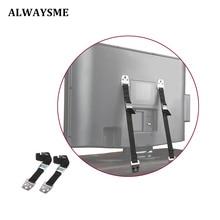 ALWAYYSME 2 шт. ТВ антинаконечник сверхмощный двойной кабель без опрокидывания ремень безопасности для плоского ЖК-экрана мебель шкаф монтаж