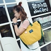 2017 New Hot Fashion Women Female Casual Cute Korean Style Zipper Simple Soft Panelled Canvas Bag