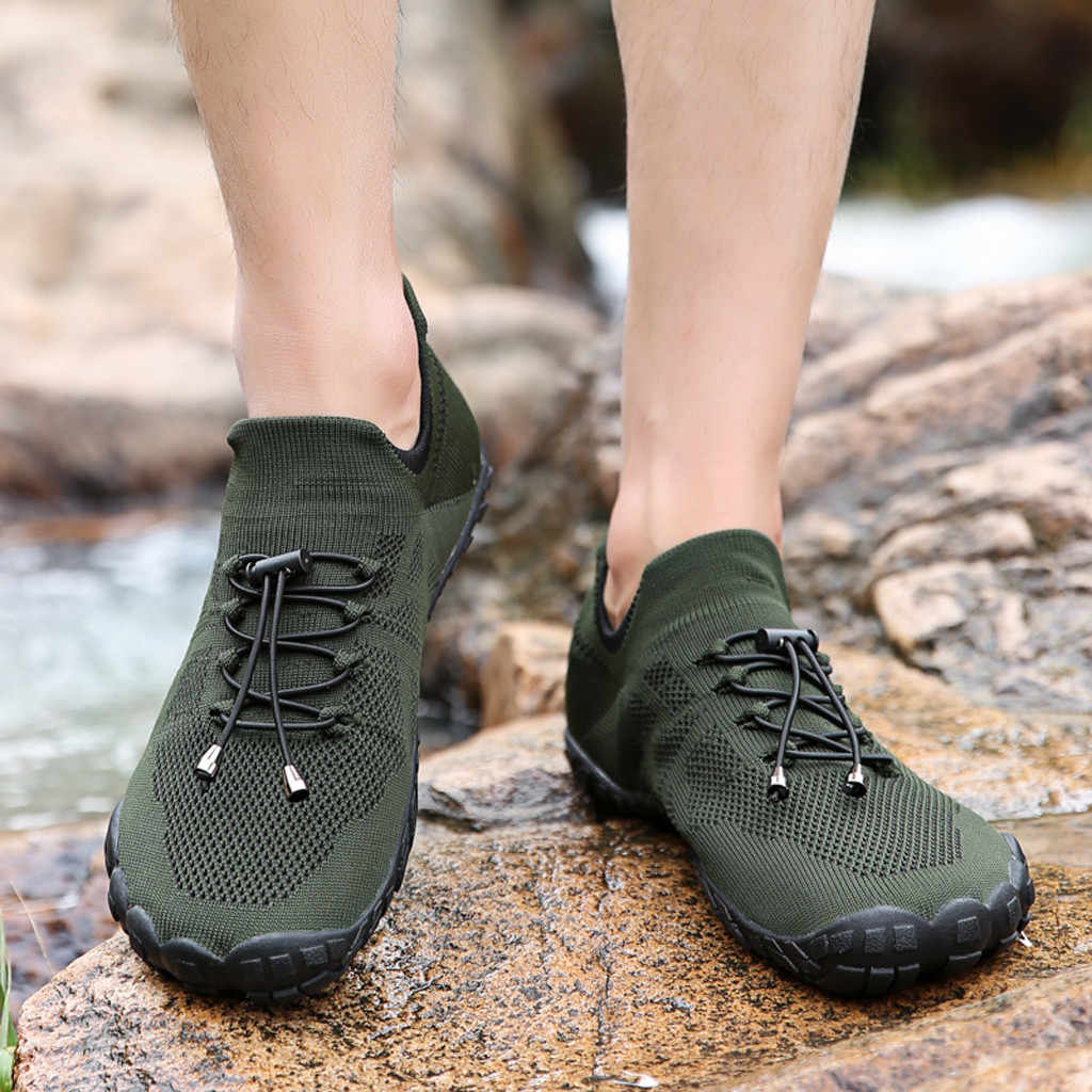 Summer Water Shoes for Men Women Breathable Barefoot Quick Dry Non Slip Beach Swimming Man Sneakers Outdoor Aqua Shoes #D