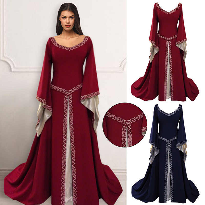 3c8629c9f9f Brand Women's Red Blue Medieval Renaissance Victorian Dresses Medieval  Renaissance Costumes Ball Gown Ball Gowns Dresses