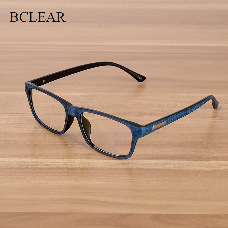 BCLEAR Eyewear Men And Women Unisex Wooden Pattern Fashion Retro Optical Spectacle Eyeglasses Glasses Frame Vintage Eyewear