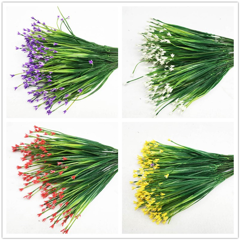 7-Fork Plastic Artificial Flowers Green Artificial Grass Plants Home Office Desk Decorative Leaves Party Decors Plants 5 Colors7-Fork Plastic Artificial Flowers Green Artificial Grass Plants Home Office Desk Decorative Leaves Party Decors Plants 5 Colors