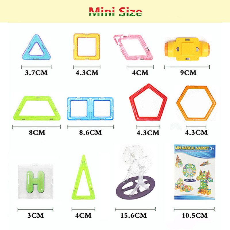 Mini/big Size 175pcs Magnetic Designer Building Blocks Model & Building Toys Brick Enlighten Bricks Magnetic Toys For Children #5